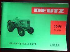 Deutz Schlepper F 3 L 514 Ersatzteilliste