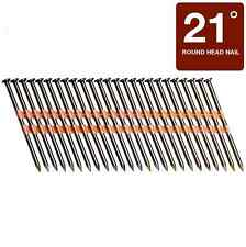 Framing Collated Nails Pneumatic Nailer Round Head 21 Degree 3.25 inch 4000 Pack