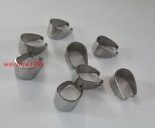 300x Large 9*11mm Stainless steel hooks Pendant Pinch Clip Clasp Bail Connector
