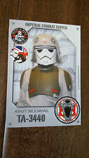 2016 STAR WARS CELEBRATION 501ST LEGION UK GARRISON CARD IMPERIAL COMBAT DRIVER