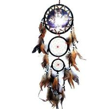 Handmade Dream Catcher with Feathers Wall Hanging Decoration Ornament-Wolf Decor