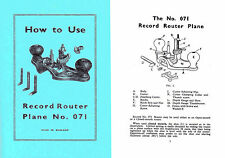 Record 071 Router Plane Manual (Stanley 71?)