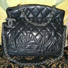 Chanel Moscow limited edition black lamb silver hardware