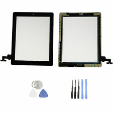 Front Panel Touch Screen Glass Digitizer+ Home Button Assembly for iPad 2 Black