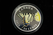 2013 50 cents Silver Plated Coin - Tiger Swallowtail - BUTTERFLIES OF CANADA