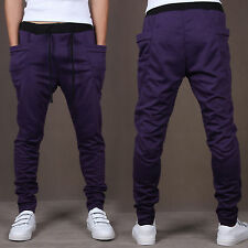 Mens Slim Jogging Slacks Bottoms Sportswear Tracksuit Pants Sweatpants Trousers
