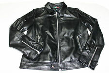 ITALIAN HANDMADE MEN LAMBSKIN LEATHER SLIM FIT JACKET COLOR JET BLACK SIZE L