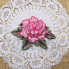 Floral Embroidered Applique 3D Trim Patch Fabric Embellishment Lace DIY Craft