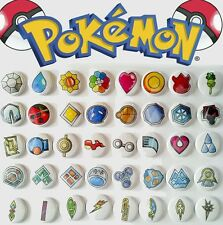 "40 1"" Pokemon Gym Badges ALL badges from ALL games buttons pinback badges"