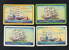 Playing Swap Cards 4 GENUINE VINT AUSSIE SAILING THE HIGH SEAS  SET OF 4   #18