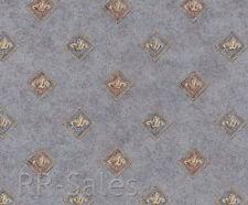 Blue Diamond Architectural Design  Faux Texture Tiles Vtg Double Rolls Wallpaper
