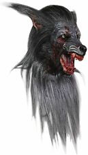 Halloween LifeSize Costume BLACK WOLF LATEX DELUXE MASK Haunted House