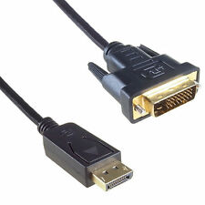 1.8m DisplayPort Plug Socket to DVI-D 24+1 Male-Male Plug Digital Video Cable UK