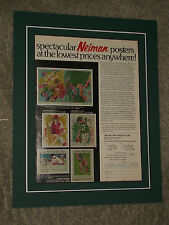 1973 Leroy Neiman Matted Ad for 6 Sports Posters.....Namath, Bench, Golfers, etc