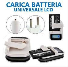 CARICA BATTERIA UNIVERSALE CARICATORE LCD USB PER CELLULARE CELLULARI FOTOCAMERA
