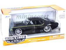 JADA BIGTIME 90060 1969 69 PONTIAC GTO JUDGE 1/24 DIECAST BLACK
