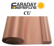 "EMF RFID RF Shielding Copper Fabric Roll - 44"" x 1' of Material"