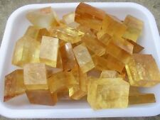 1000g A++ Cubic Yellow Calcite Crystal ICELAND SPAR Mineral Specimen
