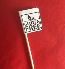 10 GLUTEN FREE PARTY CUP CAKE FLAG Pick Topper Food Allergy Intolerance