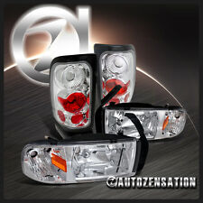 94-01 Dodge RAM 1500/2500/3500 Chrome Headlights+Altezza Tail Lights