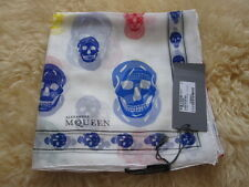 RARE 2010 AUTHENTIC ALEXANDER MCQUEEN SCARF WRAP SKULL MULTICOLOR CHIFFON SILK