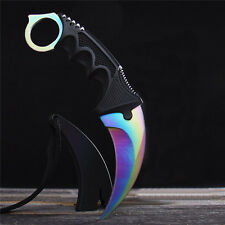 New CSGO Knife Fixed Blade Karambit Sharp Outdoor Survival Saber with Sheath