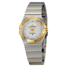 Omega Constellation Mother of Pearl Diamond Steel and Yellow Gold Ladies Watch
