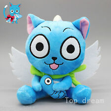 "New Cute Blue Happy Cat Anime Fairy Tail Soft Plush Doll Toy 6.3"" Teddy SGVADF"