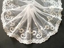 """1Y~5""""~Cotton Venise Embroidered Lace Trim Music Note Scalloped Bridal Ivory"""