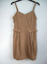 Dress Ladies Beige Dress  Divided By H & M UK Size 8 Eur Size 36 Polyester New