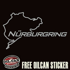 NURBURGRING SILVER sticker vw euro look jdm illest 135 x 80mm
