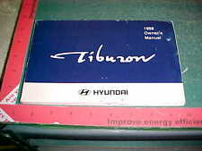 1998 HYUNDAI TIBURON OWNER'S GLOVEBOX MANUAL