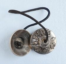"Fine Quality 2.5"" Hand Carved Tibet Buddhist Tingsha Cymbals From Patan, Nepal"