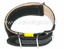 MORELLATO cinturino nero canvas canvass black strap nato 18mm uhrenanband