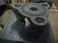 2 Vintage Cast Iron Industrial Bond Foundry Caster Cart Tri-cycle Solid Wheels