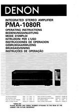 Denon PMA-1080R Amplifier Owners Manual
