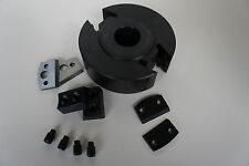 50mmWide 120mm Dia 30mm Bore 'EURO' Spindle Moulder Cutter Block + FREE CUTTERS