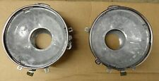 NOS JEEP CJ HEAD LAMP BUCKET ASSEMBLIES 1972-1986 NEW OLD STOCK SOLD IN PAIRS-2