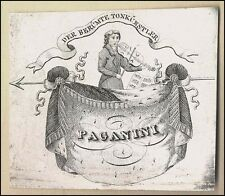 Nicolo PAGANINI (Composer): Origintal Concert Ticket Engraving