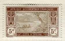 FRENCH COLONIES;  IVORY COAST early 1900s pictorial issue Mint hinged 5c. value