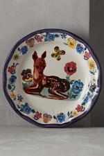 """NEW Nathalie Lete Anthropologie """"Deer Pansy"""" ~ Floral Francophile Dinner Plate~"""