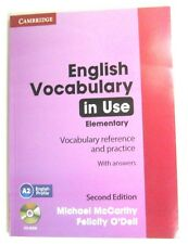 CAMBRIDGE ENGLISH VOCABULARY IN USE ELEMENTARY WITH ANSWERS AND CD-ROM MICHAL