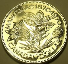 Proof Canada 1970 Manitoba Dollar~645,869 Minted~Excellent~Free Shipping