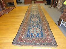 3.7 x 15 Antique Tribal Kurdistan Rug With Atleast 70 Animal Figures..$999.99