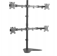"Steel LCD LED 3D HD Monitor Dual Desk Stand Mount Upto 32"" Apple HP Samsung Sony"