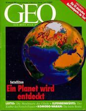 GEO 8/1993 GEO 8/93 DEUTSCHE NATIONALPARKS*FETISCH-FRAUEN*LOTTO*WILDNIS WARANE