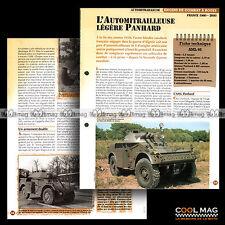 #vm014.12 ★ AUTOMITRAILLEUSE LEGERE PANHARD AML 90 ★ Fiche Véhicule Militaire