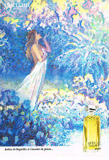PUBLICITE ADVERTISING 064  1983  GUERLAIN   Parfum JARDINS DE BAGATELLE
