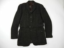 Vintage Montague Burton Harris Tweed Belted Hunting/Field Jacket Men's sz 38 M