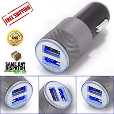 Mini-Small Dual USB Two Ports 5V 3A LED Car Lighter Socket Charger Adapter plug